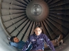 Boys in Aircraft Engine Housing